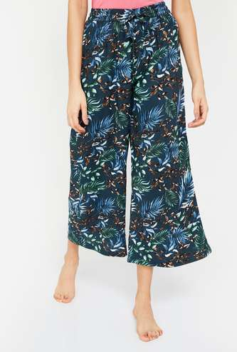 GINGER Women Botanical Print Lounge Pants
