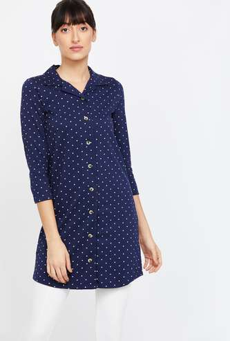 GINGER Printed Collared Tunic