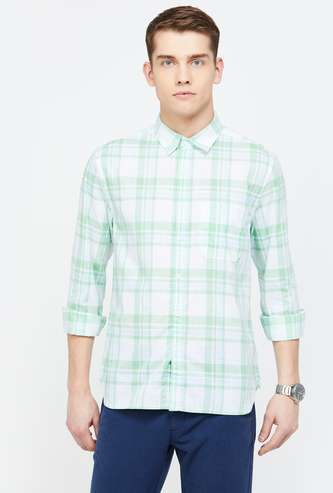 CODE Checked Regular Fit Casual Shirt