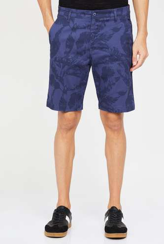 CODE Tropical Print Regular Fit Shorts