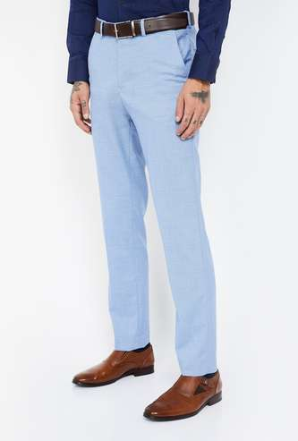CODE Checked Slim Tapered Trousers