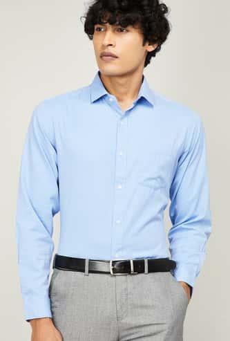 CODE Men Textured Regular Fit Formal Shirt