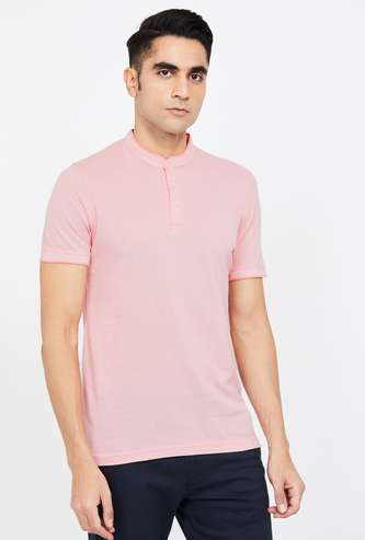 CODE Solid Regular Fit Polo T-shirt