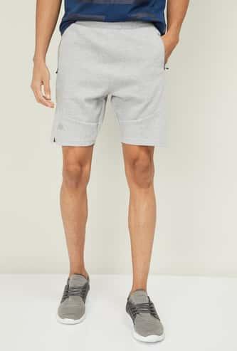 KAPPA Men Textured Regular Fit Sports Shorts with Zip Pockets