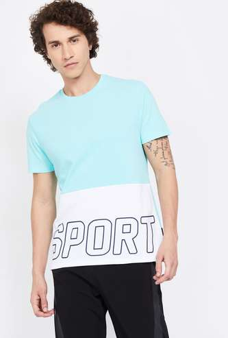 KAPPA Colourblocked Regular Fit Crew Neck T-shirt