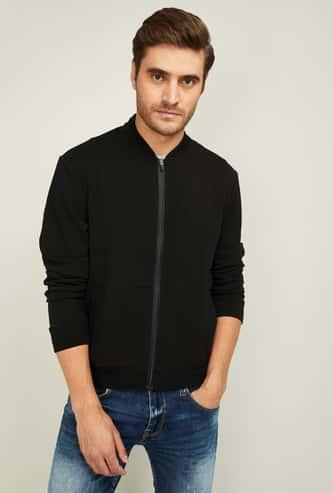 FAME FOREVER Men Solid Zip-Front Jacket