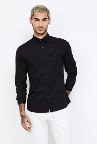 UCLA Solid Full Sleeves Regular Fit Shirt