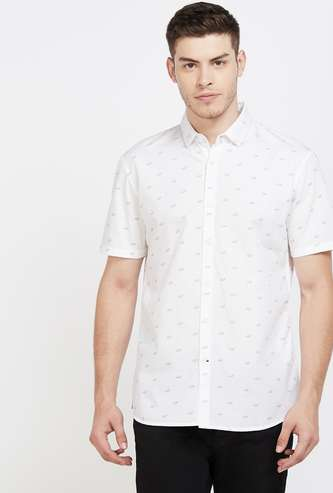UCLA Printed Regular Fit Casual Shirt