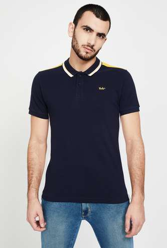 UCLA Solid Regular Fit Polo T-shirt