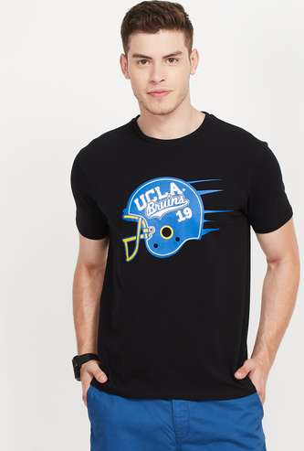 UCLA Regular Fit Crew Neck T-shirt with Chest Print