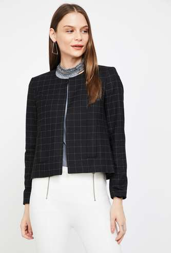 VAN HEUSEN Checked Buttoned Jacket