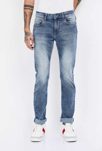 FLYING MACHINE Michael Stonewashed Slim Tapered Fit Jeans