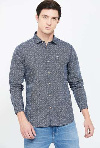 FLYING MACHINE Printed Slim Fit Casual Shirt