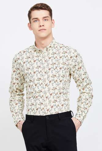 FLYING MACHINE Floral Print Slim Fit Casual Shirt
