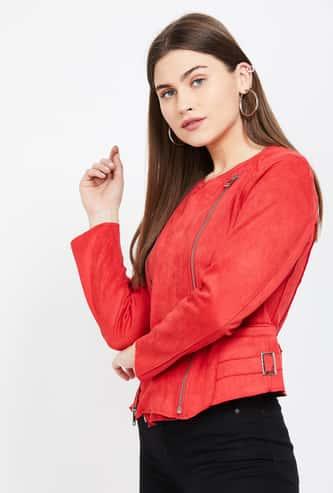 JEALOUS 21 Solid Jacket with Zip Closure