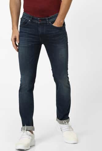 CELIO Dark Washed Slim Tapered Jeans