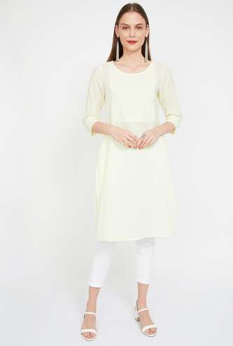 MELANGE Embroidered Straight Kurta