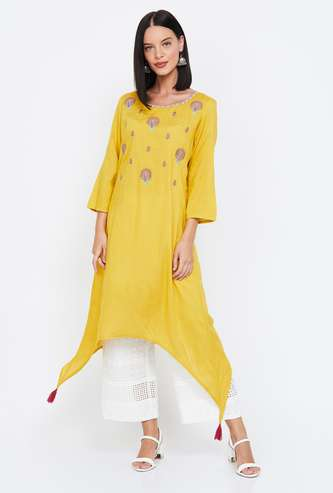 MELANGE Women Embroidered A-line Kurta