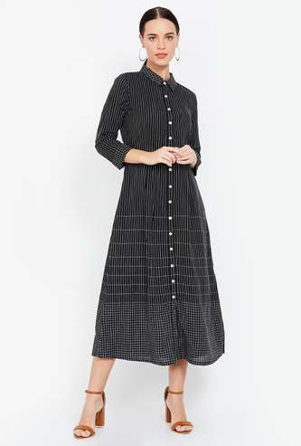 AND Striped Midi Dress