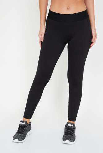 ADIDAS Solid Mesh Panelled Tights