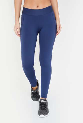 ADIDAS Panelled Knitted Training Tights
