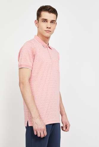 COLORPLUS Printed Regular Fit Polo T-shirt