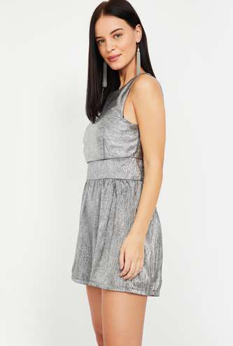 ONLY Shimmery Sleeveless Playsuit