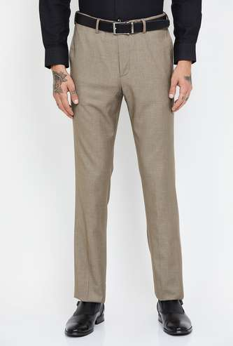 ARROW Textured Slim Tapered Trousers