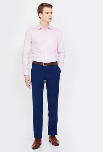 VAN HEUSEN Solid Slim Tapered Trousers