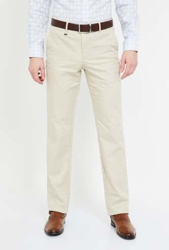 VAN HEUSEN Textured Slim Tapered Fit Formal Trousers