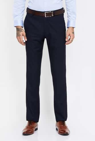 VAN HEUSEN Textured Slim Tapered Trousers
