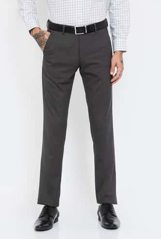 VAN HEUSEN Textured Super Slim Fit Formal Trousers