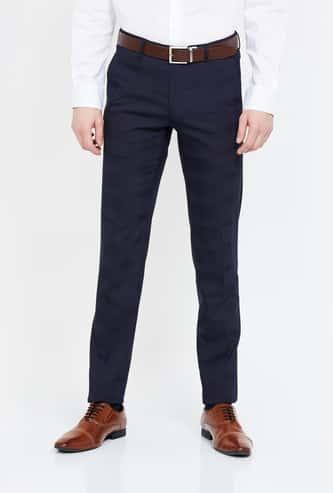 VAN HEUSEN Textured Ultra Slim Fit Trousers