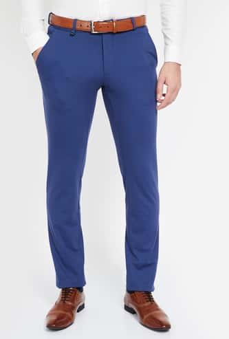VAN HEUSEN Solid Super Slim Fit Trousers