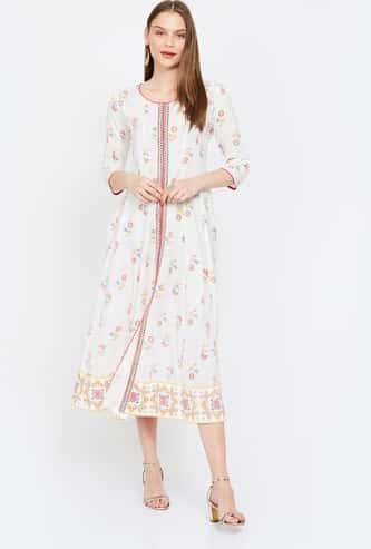 IMARA Printed Midi Dress