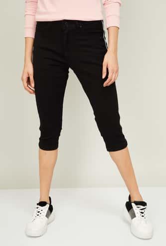 LEE COOPER Women Solid Skinny Denim Capris