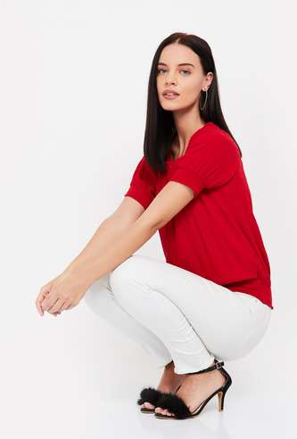 LEE COOPER Solid Top with Elasticated Hem