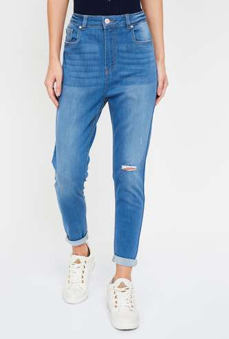 FAME FOREVER Women Stonewashed Super Skinny Fit Jeans
