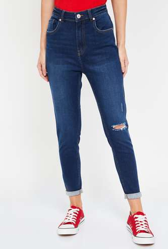 FAME FOREVER Women Distressed Super Skinny Fit Jeans