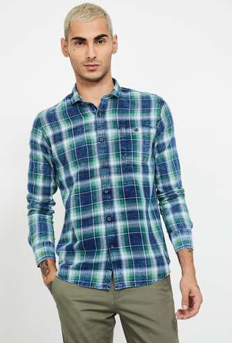 FLYING MACHINE Checked Slim Fit Casual Shirt