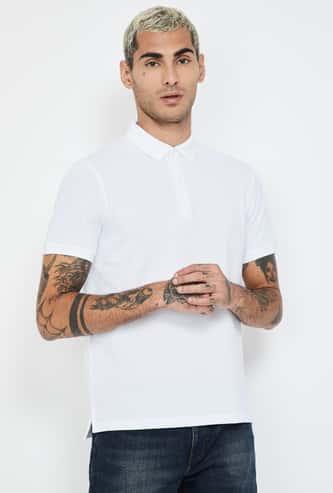 CODE Textured Regular Fit Polo T-shirt
