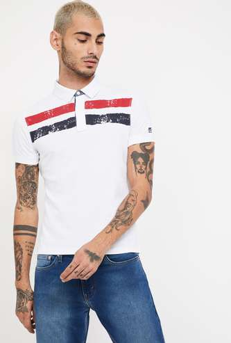 PEPE JEANS Striped Regular Fit Polo T-shirt