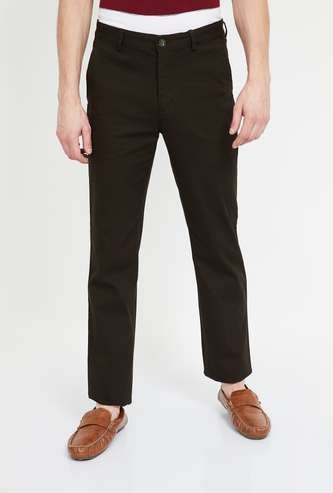 COLORPLUS Solid Slim Fit Chinos