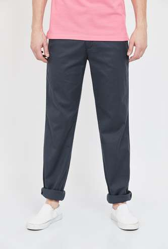 COLORPLUS Solid Slim Straight Chinos