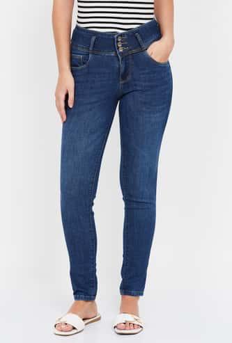 KRAUS Stonewashed Super Skinny Fit Jeans
