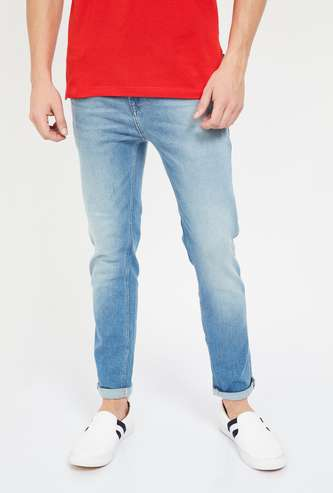 UNITED COLORS OF BENETTON Mid-Washed Slim Fit Jeans