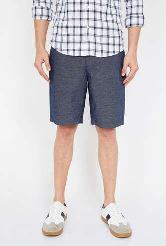 FAME FOREVER Men Textured Regular Fit Shorts