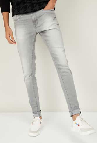 AEROPOSTALE Men Lightly Washed Super Skinny Jeans