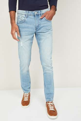 FORCA Distressed Skinny Fit Jeans