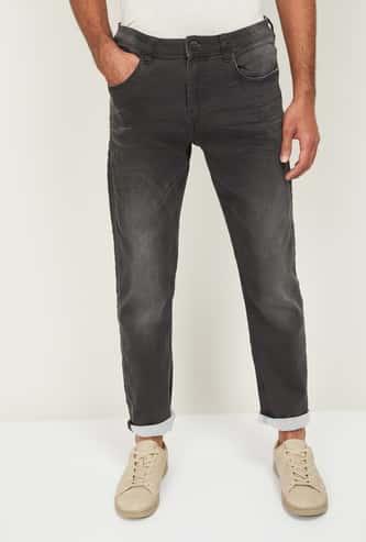 FORCA Men Dark Washed Slim Tapered Jeans